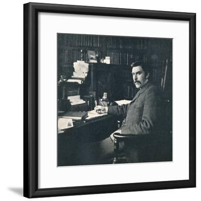 'Rev. Sylvester Horne, B.A., In His Study', 1901-Unknown-Framed Photographic Print