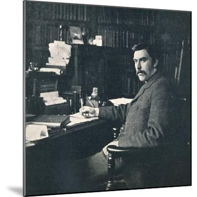 'Rev. Sylvester Horne, B.A., In His Study', 1901-Unknown-Mounted Photographic Print