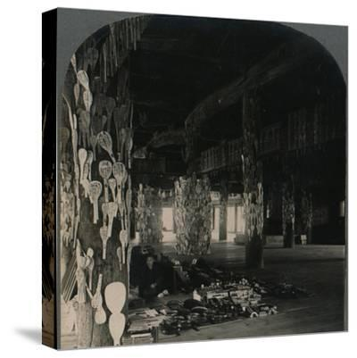 ''Hall of a Thousand Mats, whereJapanese Soldiers hang Lucky Spoons, Myajima, Japan', 1905-Unknown-Stretched Canvas Print