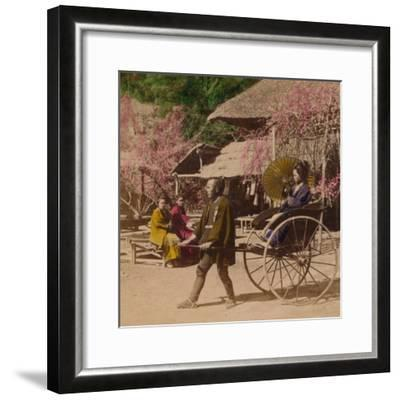 'A Morning Ride in a Jinrikisha, Sugita, Japan', 1896-Unknown-Framed Photographic Print