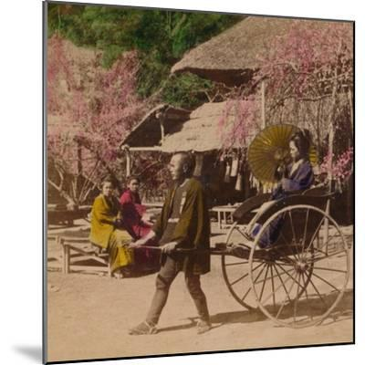 'A Morning Ride in a Jinrikisha, Sugita, Japan', 1896-Unknown-Mounted Photographic Print