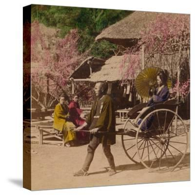 'A Morning Ride in a Jinrikisha, Sugita, Japan', 1896-Unknown-Stretched Canvas Print