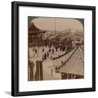 'Looking east from Miidera temple over Otsu and its canal to serene Lake Biwa, Japan', 1904-Unknown-Framed Photographic Print