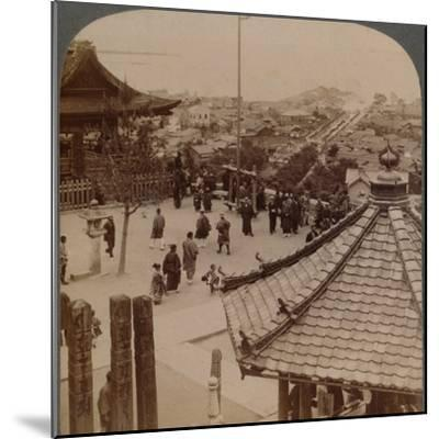 'Looking east from Miidera temple over Otsu and its canal to serene Lake Biwa, Japan', 1904-Unknown-Mounted Photographic Print