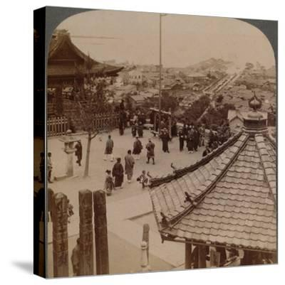 'Looking east from Miidera temple over Otsu and its canal to serene Lake Biwa, Japan', 1904-Unknown-Stretched Canvas Print