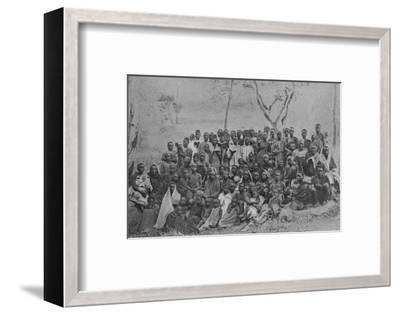 'Christians at Kisokwe', 1901-Unknown-Framed Photographic Print