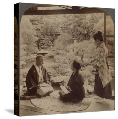 'South gardens from home of Mr Y Namikawa, the famous leader in art industries, Kyoto, Japan', 1904-Unknown-Stretched Canvas Print
