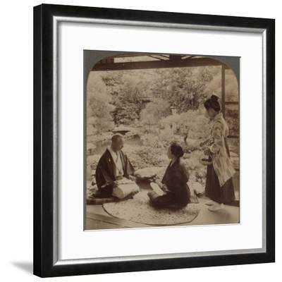 'South gardens from home of Mr Y Namikawa, the famous leader in art industries, Kyoto, Japan', 1904-Unknown-Framed Photographic Print
