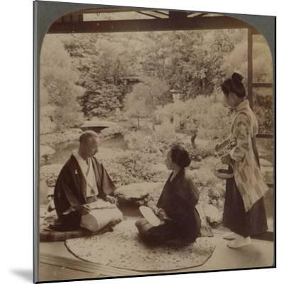 'South gardens from home of Mr Y Namikawa, the famous leader in art industries, Kyoto, Japan', 1904-Unknown-Mounted Photographic Print