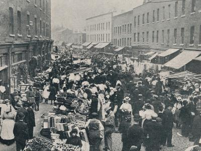 'Petticoat Lane - The Sunday Morning Market in Full Swing', 1901-Unknown-Framed Photographic Print
