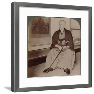 'Count Okuma, Ex-Minister of Foreign Affairs, at home, Tokyo, Japan', 1904-Unknown-Framed Photographic Print