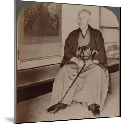 'Count Okuma, Ex-Minister of Foreign Affairs, at home, Tokyo, Japan', 1904-Unknown-Mounted Photographic Print