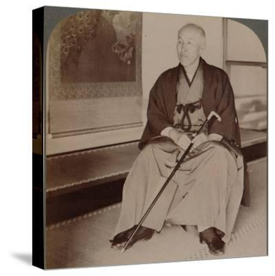 'Count Okuma, Ex-Minister of Foreign Affairs, at home, Tokyo, Japan', 1904-Unknown-Stretched Canvas Print