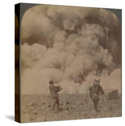 'Volcanic explosion - smoke, steam and stones thrown from crater of Asama-yama, Japan', 1904-Unknown-Stretched Canvas Print