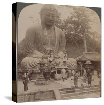 'Majestic calm of the great bronze Buddha, reverenced for six centuries, Kamakura, Japan, 1904-Unknown-Stretched Canvas Print