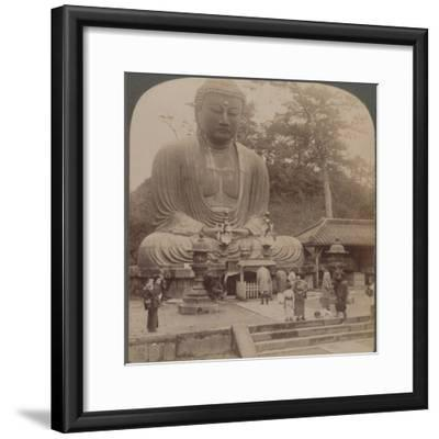 'Majestic calm of the great bronze Buddha, reverenced for six centuries, Kamakura, Japan, 1904-Unknown-Framed Photographic Print