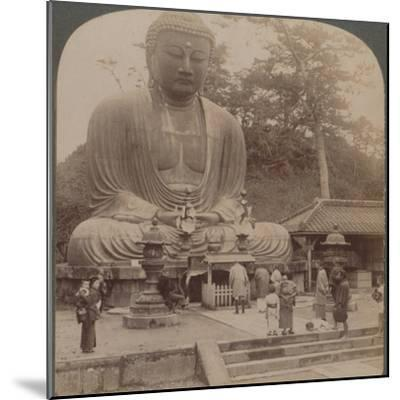 'Majestic calm of the great bronze Buddha, reverenced for six centuries, Kamakura, Japan, 1904-Unknown-Mounted Photographic Print