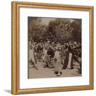 'Warlike spirit of youthful Japanese Schoolboys in Ueno Park, Tokyo, Japan', 1904-Unknown-Framed Photographic Print