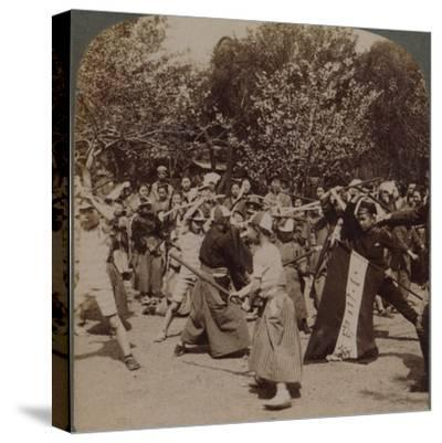 'Warlike spirit of youthful Japanese Schoolboys in Ueno Park, Tokyo, Japan', 1904-Unknown-Stretched Canvas Print