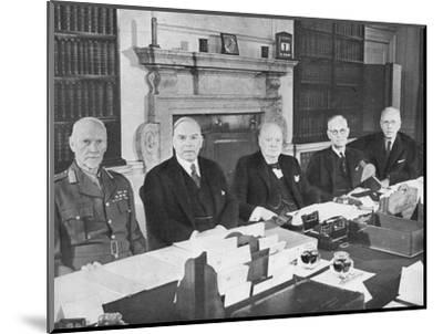 'Mr Churchill with the Commonwealth Prime Ministers', 1944 (1955)-Unknown-Mounted Photographic Print