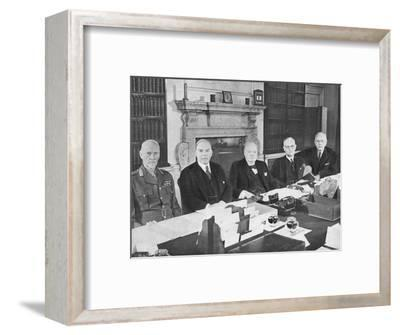 'Mr Churchill with the Commonwealth Prime Ministers', 1944 (1955)-Unknown-Framed Photographic Print
