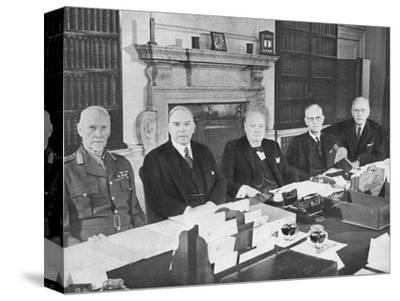 'Mr Churchill with the Commonwealth Prime Ministers', 1944 (1955)-Unknown-Stretched Canvas Print