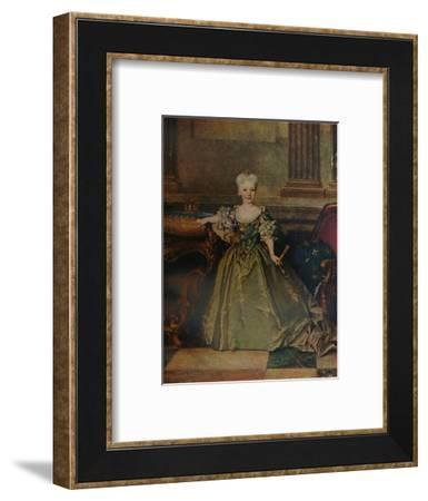'Maria Ana Victoria de Borbon y Farnesio', 1724 (c1927)-Nicolas de Largilliere-Framed Giclee Print