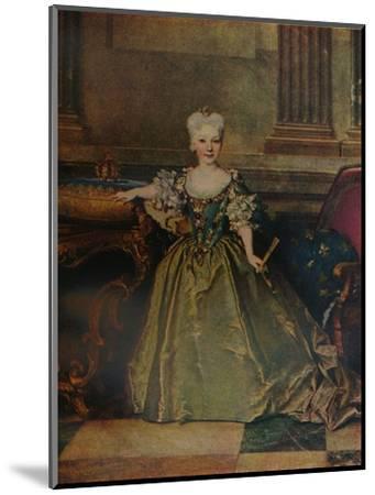'Maria Ana Victoria de Borbon y Farnesio', 1724 (c1927)-Nicolas de Largilliere-Mounted Giclee Print