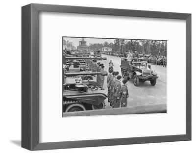 'British Victory Parade in Berlin, July, 1945', 1945 (1955)-Unknown-Framed Photographic Print