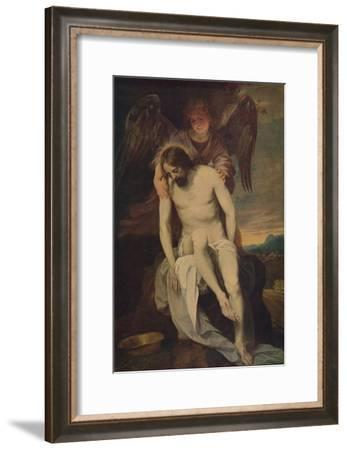 'Cristo Llorado Por Un Angel', (Dead Christ she Supported by an Angel)', 1646-1652, (c1934)-Alonso Cano-Framed Giclee Print