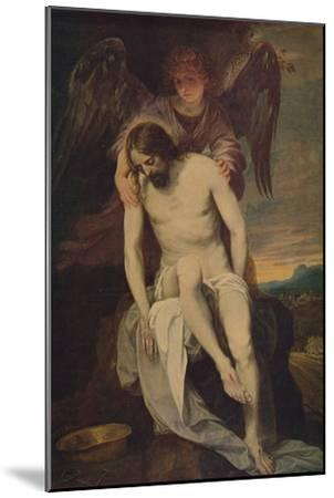 'Cristo Llorado Por Un Angel', (Dead Christ she Supported by an Angel)', 1646-1652, (c1934)-Alonso Cano-Mounted Giclee Print