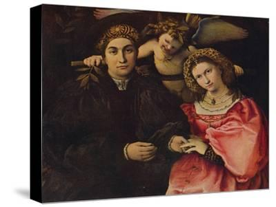 'Desposorio', (Micer Cassotti Marsilio and his wife Faustina), 1523, c1934-Lorenzo Lotto-Stretched Canvas Print