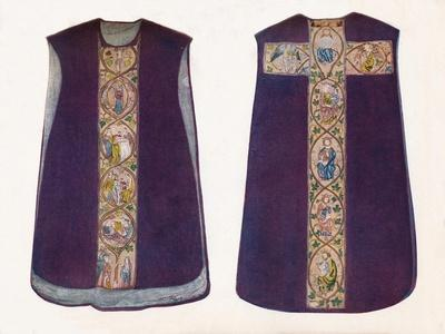 'English Work Chasuble circa 1300', 1912-Unknown-Framed Giclee Print