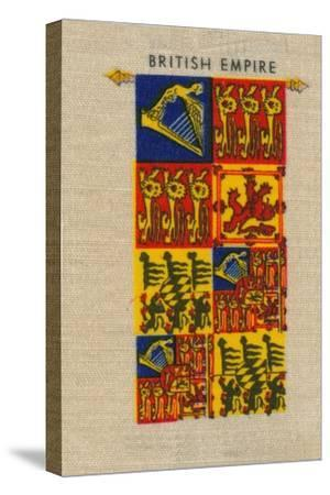 'British Empire - Standard of H.M. The Queen', c1910-Unknown-Stretched Canvas Print