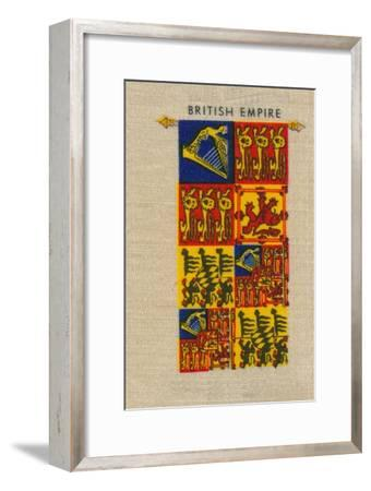 'British Empire - Standard of H.M. The Queen', c1910-Unknown-Framed Giclee Print