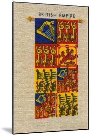 'British Empire - Standard of H.M. The Queen', c1910-Unknown-Mounted Giclee Print