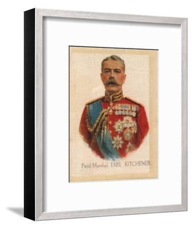 'Field Marshal Earl Kitchener', c1910-Unknown-Framed Giclee Print