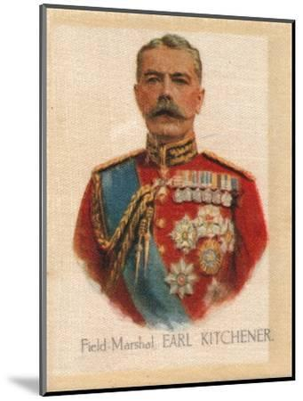 'Field Marshal Earl Kitchener', c1910-Unknown-Mounted Giclee Print