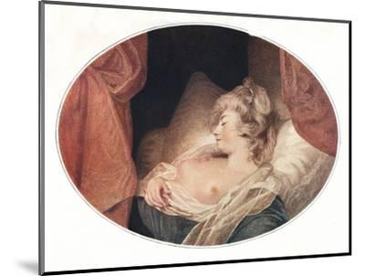 'Fancy Subject', 18th century, (1911)-Unknown-Mounted Giclee Print