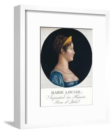 Marie Louise, Empress of the French, Queen Consort of Italy', c19th century (1912)-Unknown-Framed Giclee Print