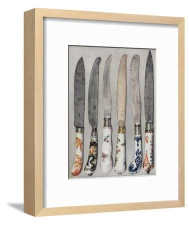 'Porcelain Knife Handles', 1912-Unknown-Framed Giclee Print