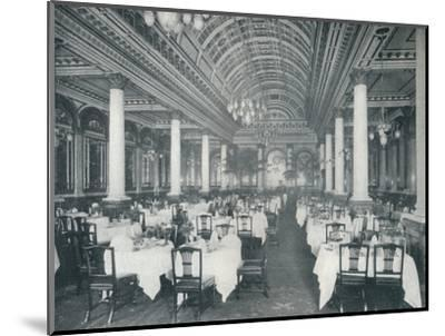 'The Grand Salle A Manger', (Dining Room), 1912-Unknown-Mounted Photographic Print