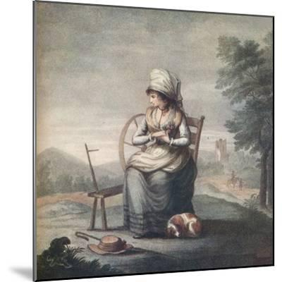 'Blouzelind', 18th century, (1912)-Unknown-Mounted Giclee Print