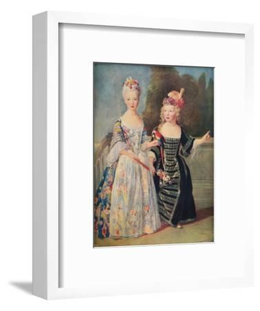 'Mademoiselle De Bethisy and her brother', c1715, (1911)-Unknown-Framed Giclee Print