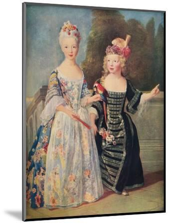 'Mademoiselle De Bethisy and her brother', c1715, (1911)-Unknown-Mounted Giclee Print