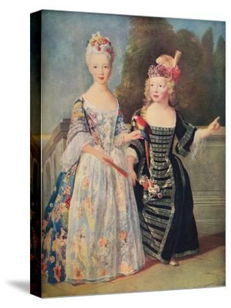 'Mademoiselle De Bethisy and her brother', c1715, (1911)-Unknown-Stretched Canvas Print