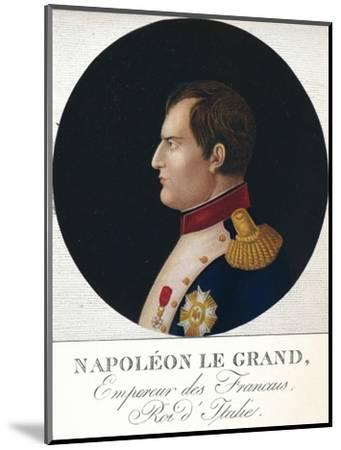 'Napoleon Bonaparte, Emperor of the French, King of Italy', c19th century (1912)-Unknown-Mounted Giclee Print