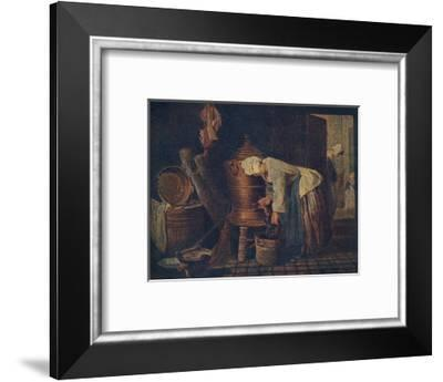 La Fontaine (The Water Cistern), c1733, (1911)-Jean-Simeon Chardin-Framed Giclee Print
