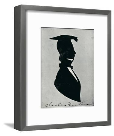 'Silhouette Portrait of Charles Dickens', c1840s, (1910)-Unknown-Framed Giclee Print