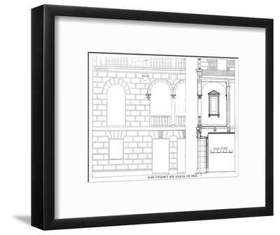 Main entrance and loggia on 38 Street, Fraternity Clubs Building, New York City, 1924-Unknown-Framed Giclee Print